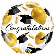 "Congratulations Gold Balloons Foil Balloon (18"") 1pc"